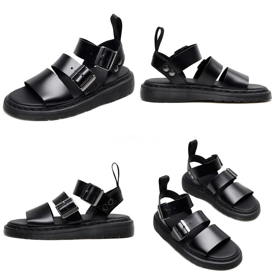 Scarpe donna Moda fibbia 2020 romana sandali Suit Tacchi Donna Beige estive di lusso Med di cuscinetti di blocco Gladiator Sandals # 247