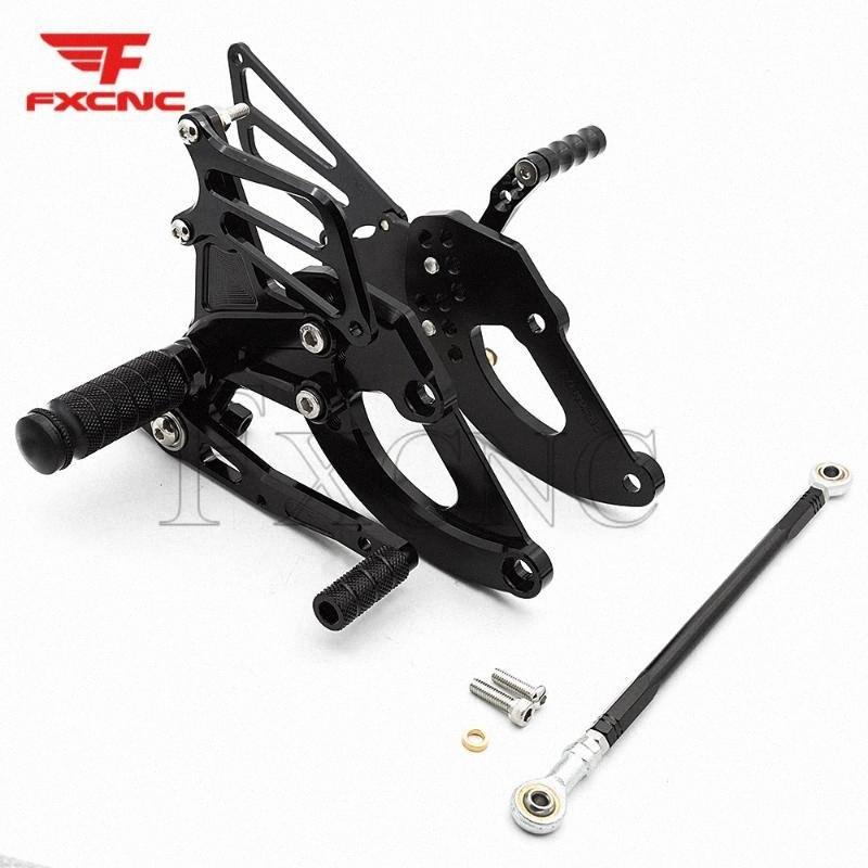 Para CBR250 2017-2018 CNC liga de alumínio da motocicleta Apoio para os pés footpeg pedal Peg rearset Rear Set EH8d #
