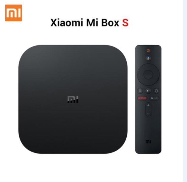 Xiaomi Mi TV Box S 4 Android 8.1 4K HD QuadCore Akıllı Bluetooth 2GB 8GB H D MI WiFi Seti UP mil Kutusu S Media Player