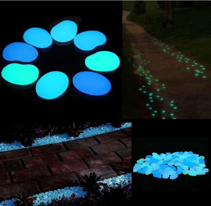 100 / paquete piedra luminosa luminoso jardinería paisajismo peces tanque de adoquines de piedra artificial fluorescente jardinería jardín de su casa