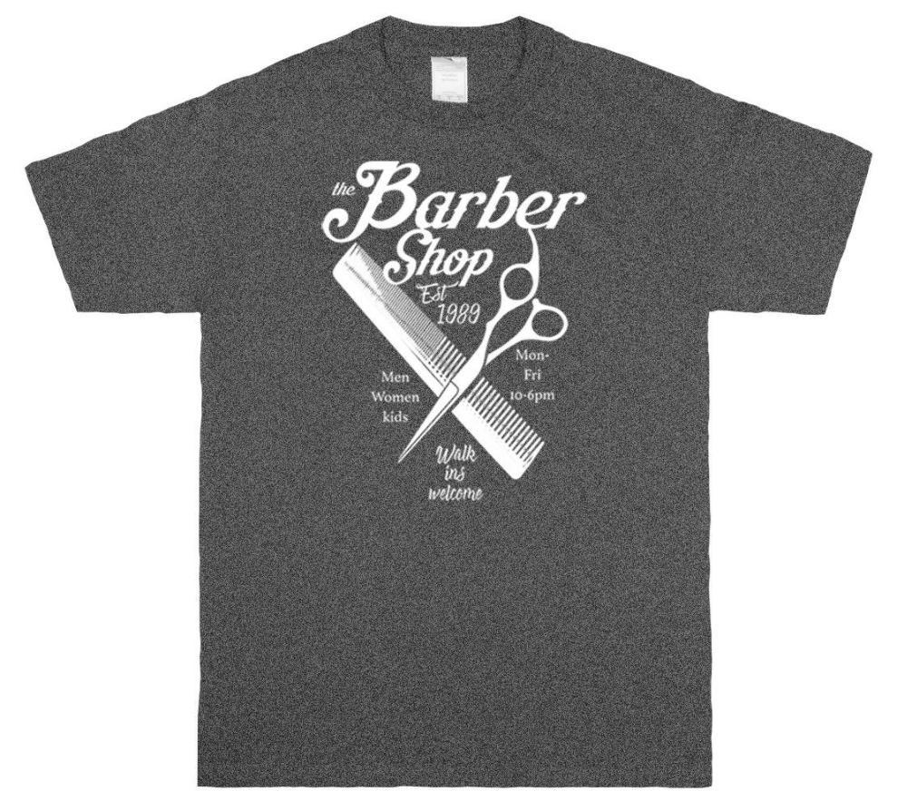 Barber Shop Est 1889 Graphic T-shirts Tee new 2020 Mode chaud Hommes T-shirt d'été en coton col O personnalisé imprimé T-shirt