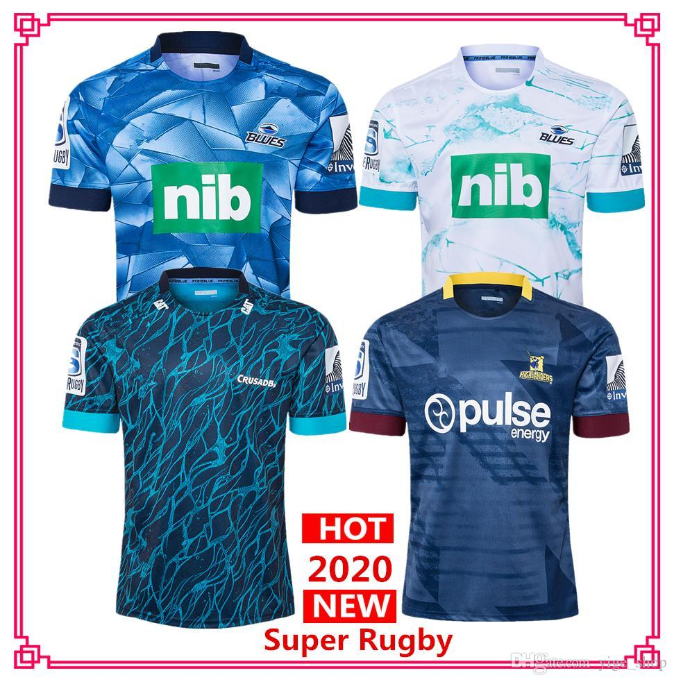DHL free shipping 2020 Super Rugby Jersey blues Crusaders Hurricanes Highlanders home away Rugby Jerseys shirt big size s-5xl