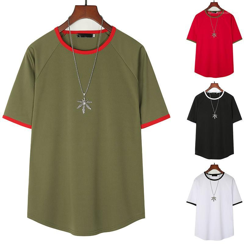 Color Mens Designer Tshirts Loose 4Colors Size S 2XL Piping O Neck Summer Casual Tees Short Sleeve Pure