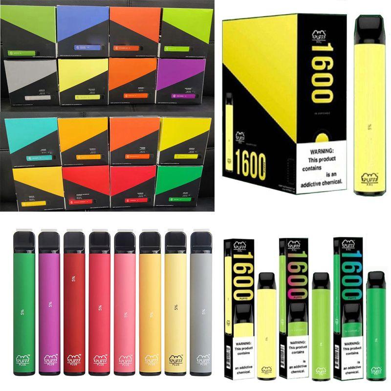 2020 nuovi bar soffio più xxl 1600+ sbuffi monouso Pod Cartridge 650mAh Battery 4mL preriempita Vape Pods Stick Style 10 colori vaporizzatore