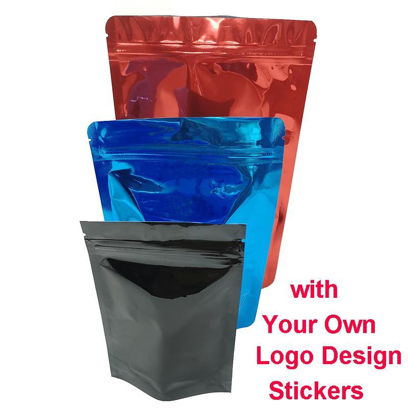 Edibles dettaglio serratura della chiusura lampo Candy Bag a prova di bambino Borse Logo di plastica trasparente Mylar Mini personalizzato Zip Lock Bag Label secco Herb Vape carrelli Packaging