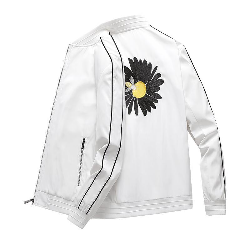 2020 diseño de moda chaquetas para hombre collar del soporte de la chaqueta de bombardero de los hombres Marca bordado cazadora Homme Otoño abrigos capa de los hombres