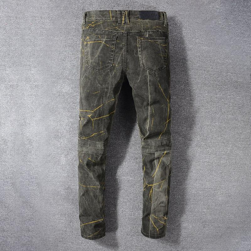 Прибытие Bal Mens Designer Jeans Fashion Мраморность свет брюки ковбой известная марка Zipper конструктора Hot Hip Hop Продажа джинсовой США Размер 29-42