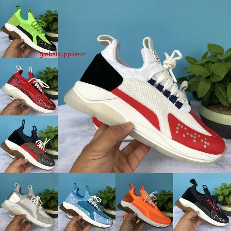 Çapraz Chainer Reaksiyon Lüks Tasarımcı ayakkabı erkekler Kadınlar Sneakers Beyaz Flu Yeşil Volt Orange ler Deri moda kadın iskarpin