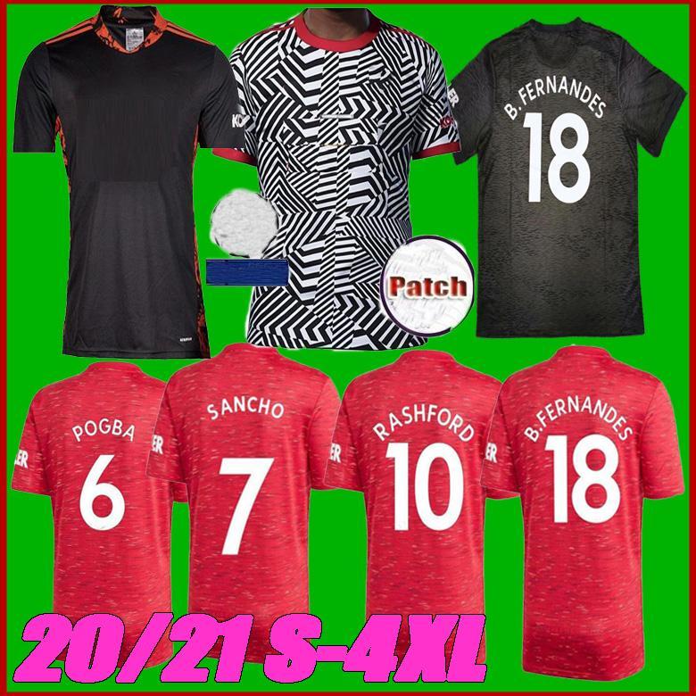 20 21 FC Manchester Sancho Pogba B. FERNANDES unito maglia da calcio 20 21 Lingard Lukaku RASHFORD MARZIALI Utd formato della camicia di calcio S-4XL