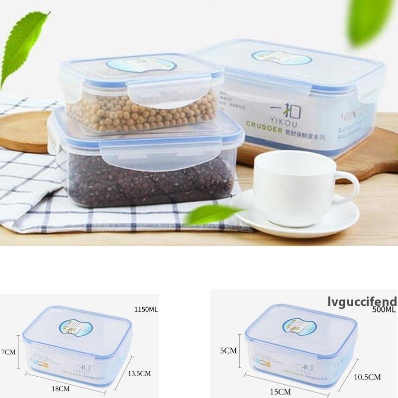 500ml 1150ml Plastik saklama kutusu seti mikrodalga beslenme çantası buzdolabı saklama paket mühürlü beslenme çantası Mutfak Depolama Örgütü GGA686