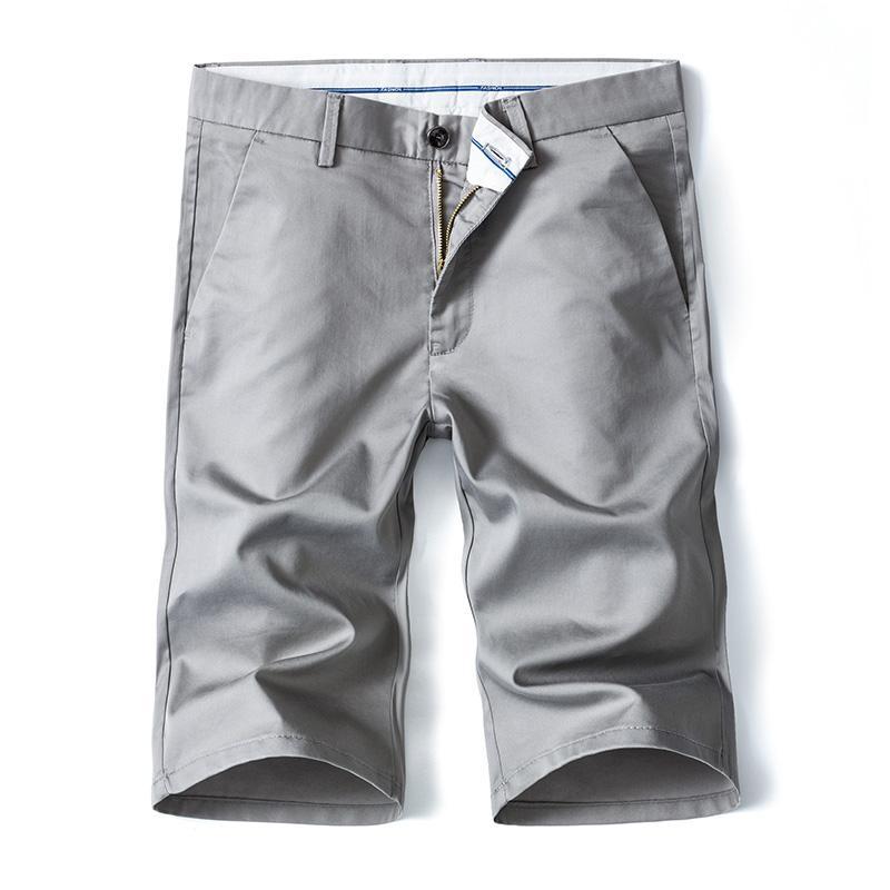 Style classique d'affaires Shorts simple d'homme d'été nouvelle mode extensible extensible couleur unie manches courtes en coton Pantalon kaki Homme Marque