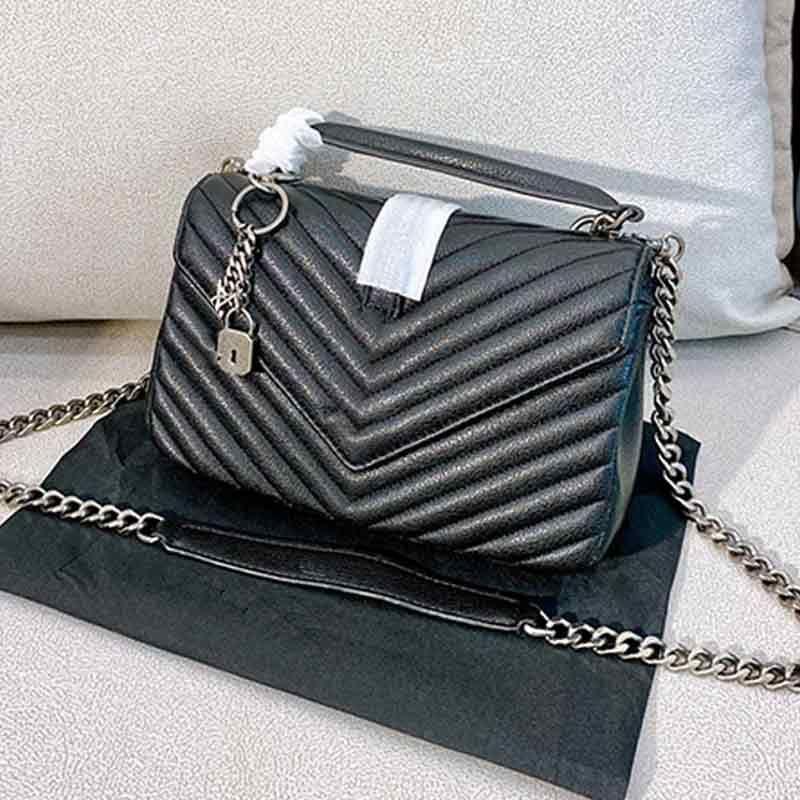 패션 가방 V 모양 플랩 체인 가방은 클래식 플랩 가방 여성 어깨 핸드백 토트 블랙 메신저 쇼핑 지갑 24cmx16cmx7cm TYPE6