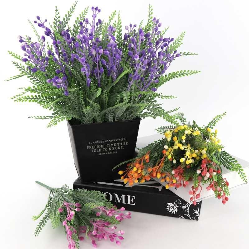 التوت جديد الأسدية الزهور الاصطناعية الديكور زفاف DIY اكليلا من الزهور هدية مربع سكرابوكينغ للتطريز الحرفية الزهور وهمية