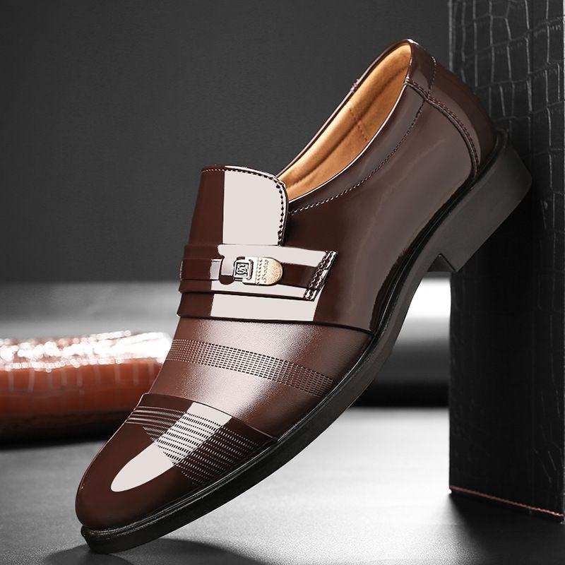 свадебное платье костюм формальных обуви мужчин бездельники мужчины скользят на мужчинах платье обуви бизнес обувь кожи Оксфорда Zapatos Hombre vestir9