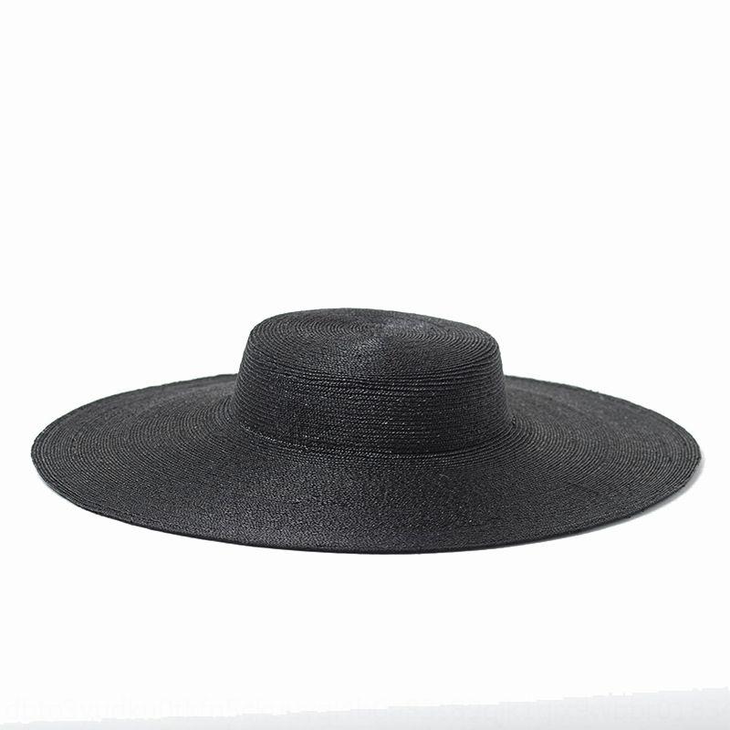 Été Ombrelle nouvelle forme supérieure grand chapeau pare-soleil extérieur tourisme paille avant-toit concave plat méticuleux montrent chapeau de paille