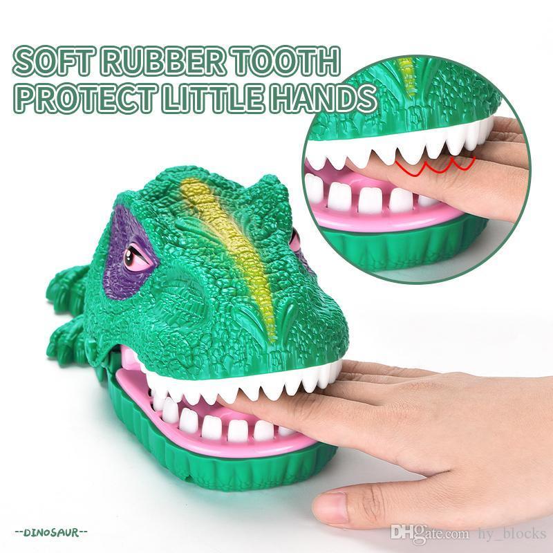 dedo engraçado mordida gags boca dinossauro de brinquedo de morder brinquedos dedo família interativa jogo de partido novidade para o presente animais garoto 04