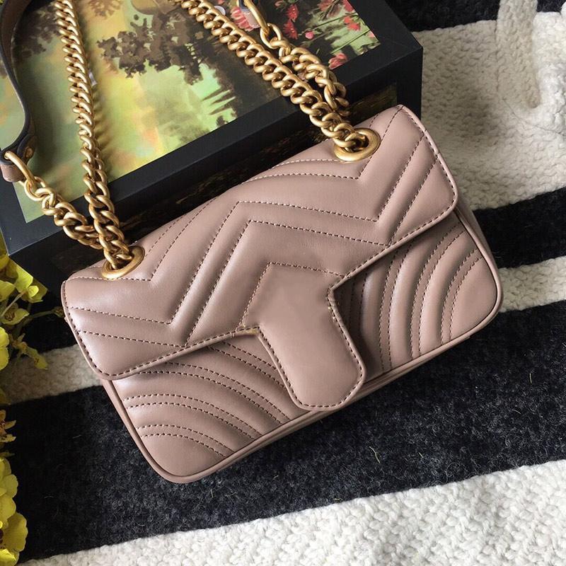 Mulheres clássicas onda padrão monograma de couro real único ombro crossbody sacos chain flip mensageiro bolsa amorosa bolsas bolsas de bolsas