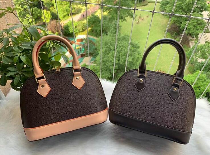 Klassische Alma BB alte Blume Brown Umhängetasche Schloss Tasche Mode Schultertasche Handtasche Kupplung Shell-Paket Umhängetasche M40878