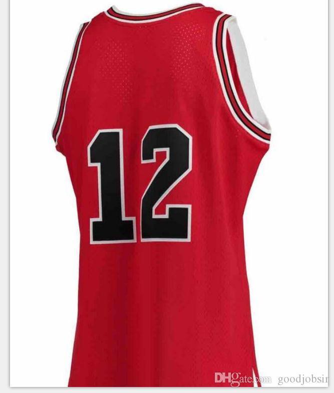 Seltene Männer Jugendfrauen Vintage Mitchell Ness # 12. Februar 14. Februar 14,1990 College Basketball Jersey Größe S-6XL oder benutzerdefinierte JEDE NAME ODER NUMMER JERSEY