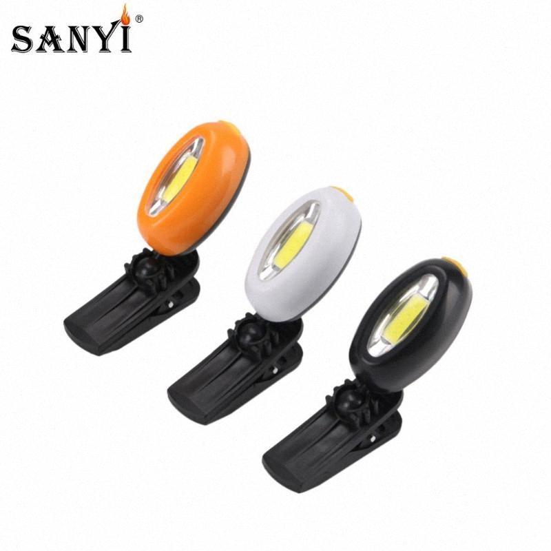 COB LED Farol Cap Luz 360 Graus Rotatable Clip On luz mãos Hat Lamp Livre Cabeça de Ciclismo Camping Lanterna com bateria Fjtf #