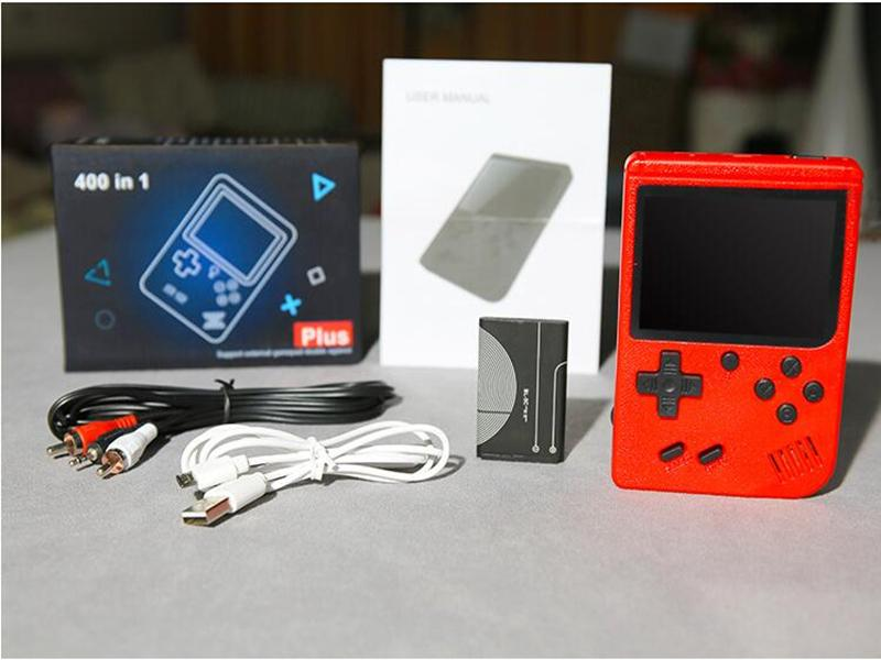 Mini Handheld Game Console Retro Portable Video Game Console Can Store 400 sup Games 8 Bit 3.0 Inch Colorful LCD Cradle Design