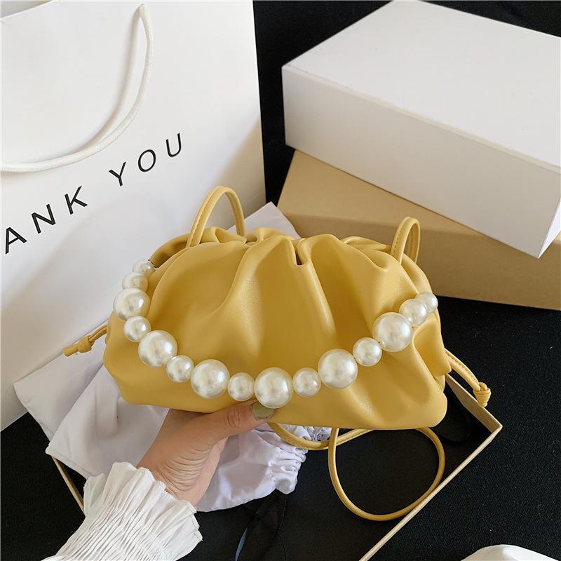 Folds design Pera Tote Mini Solid colore PU Borse Crossbody pelle per le donne 2020 borse spalla dolce di estate