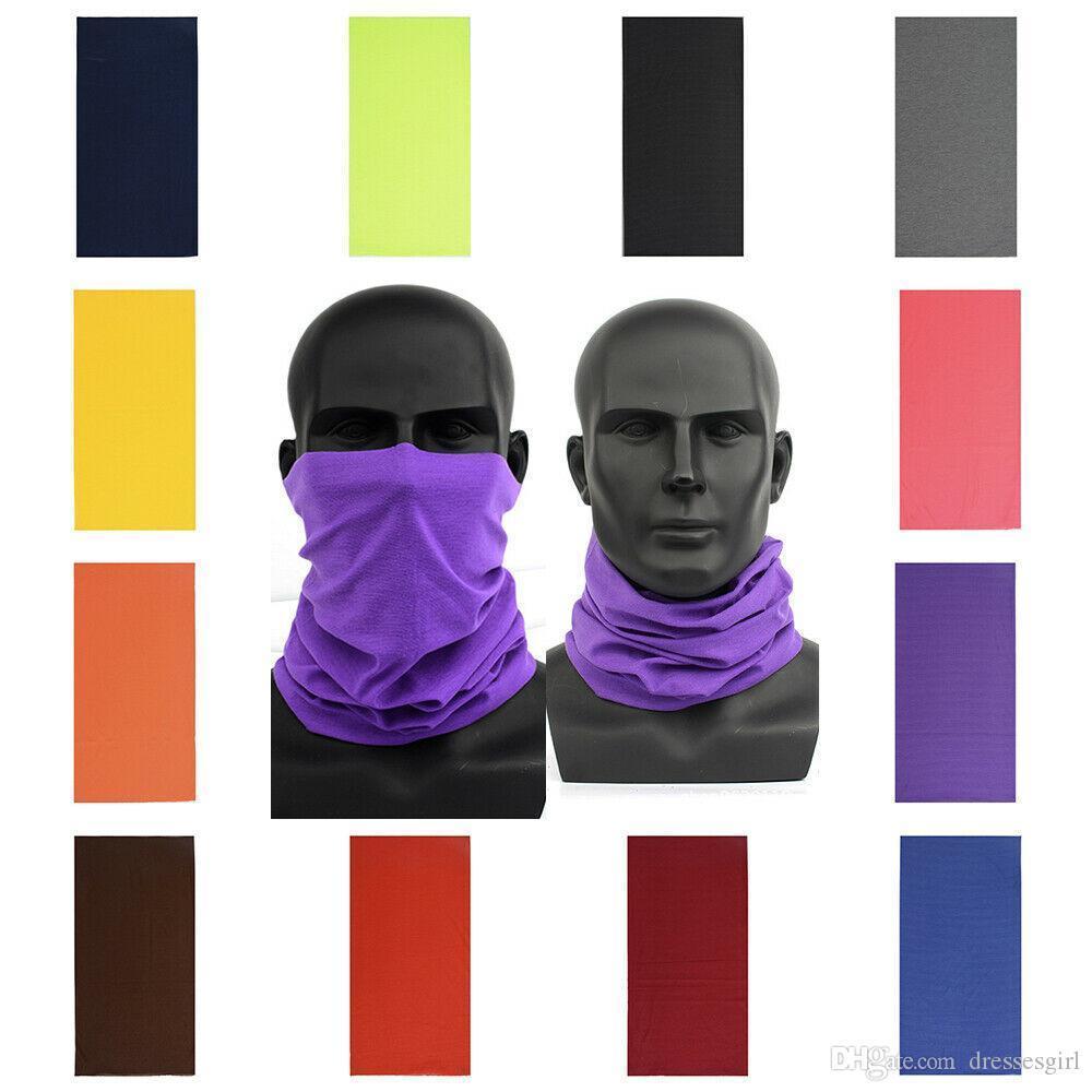 Unisex Baş Yüz Maskesi Binme Biker en Tüp Bandana Fular Bileklik Beanie Cap Balaclava Snood Şapkalar Fonksiyonlu Açık Kapak FY7026