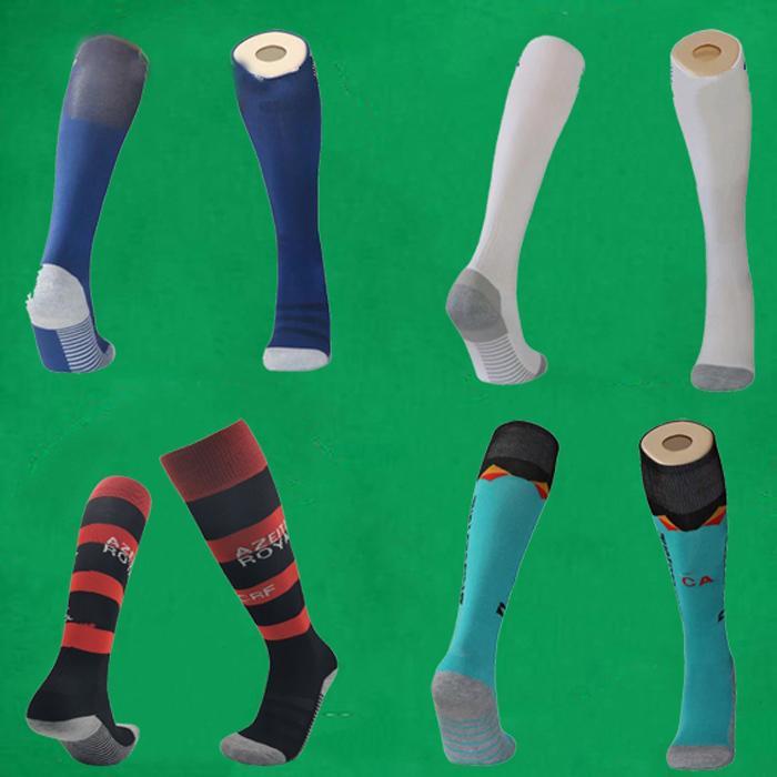 20 21 Boca Juniors chaussettes de soccer bleu genou haut stockage Thicken serviettes de longs tuyaux de fond de jersey de football du sport CR Flamengo
