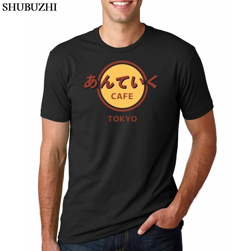 С коротким рукавом Модный Top New Anime Токио вурдалак японская футболка Men Man Марка скейтборд Tokyoghoul Cafe Cotton Tshirt лето