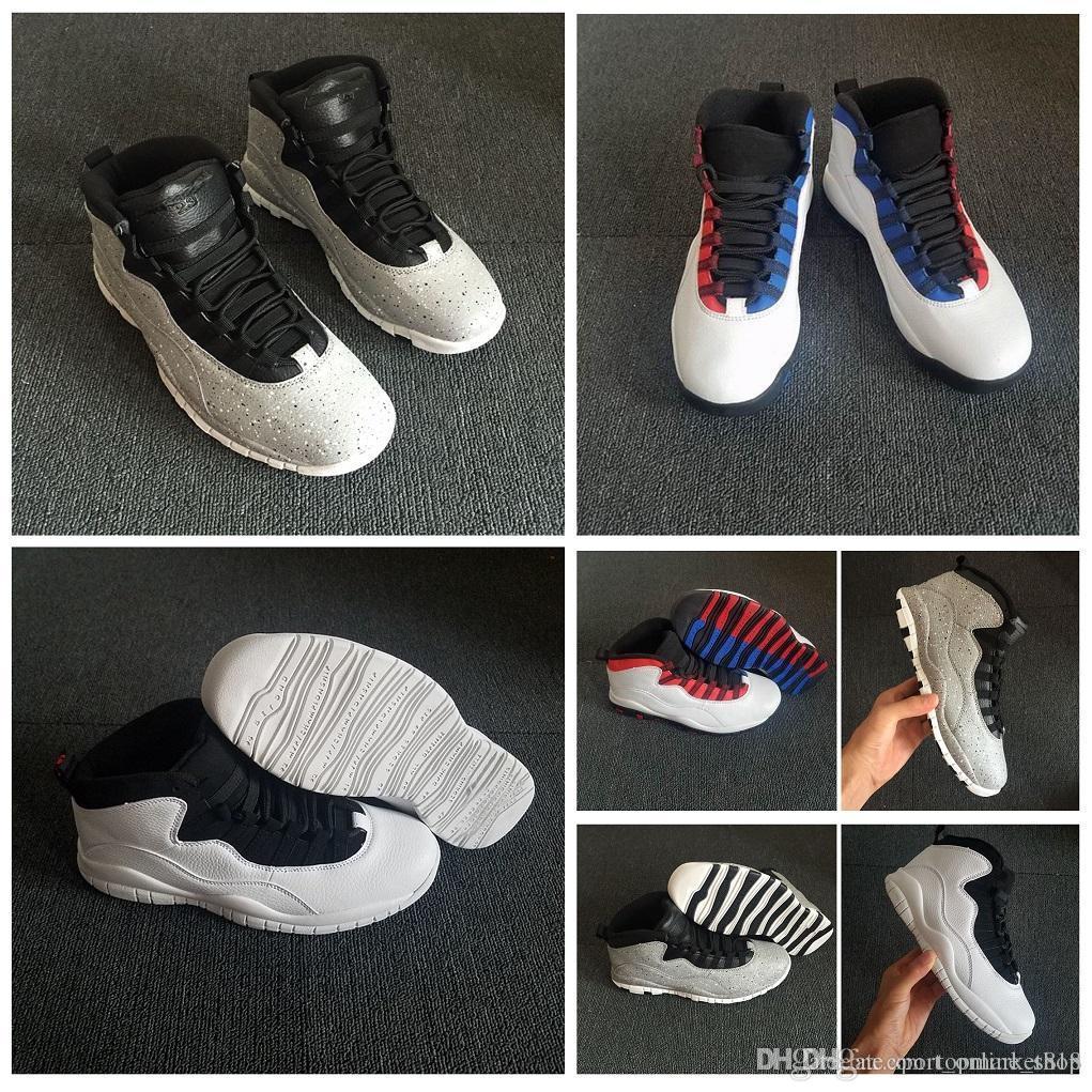Ücretsiz Kargo 10 Tinker basketbol ayakkabıları 10s 2006 ÇİMENTO mens Of Sınıf kutularıyla boyutu 310805-408 Atletik Ayakkabı Açık mens