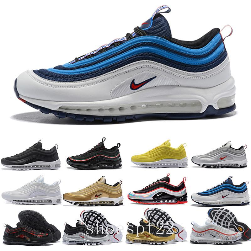 nike air max 97 airmax 2019 Chegada nova com caixa Mens Air Womens Running Shoes Almofada Prata Sneakers Atletismo Outdoor Sports Shoes JI-1B