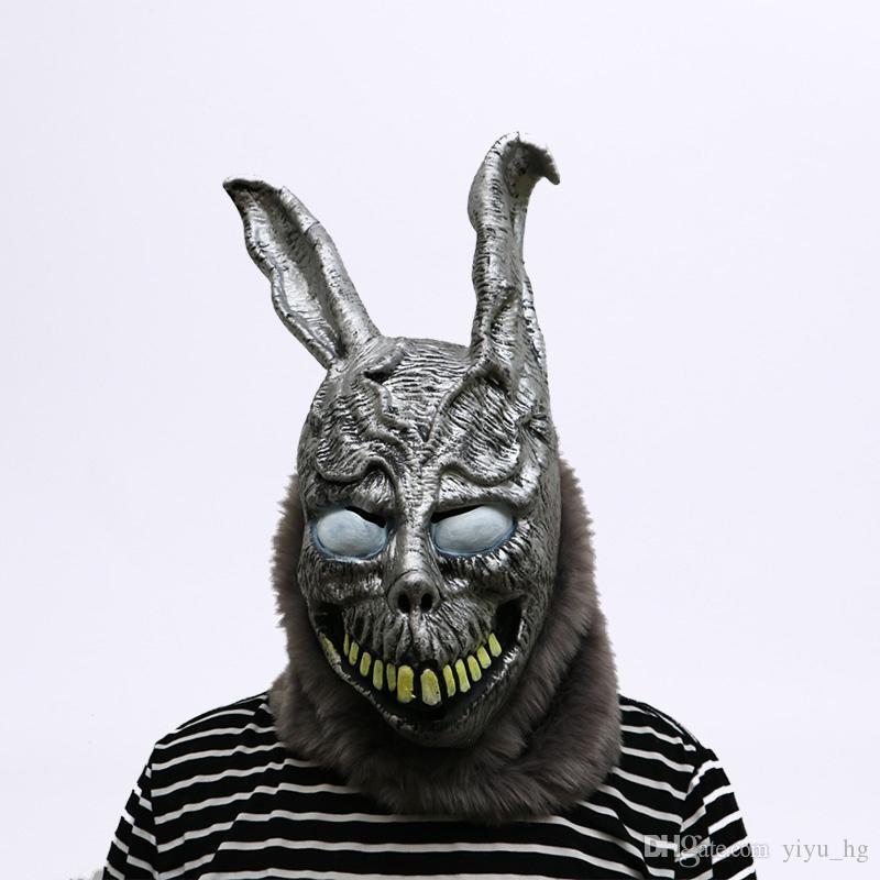 الكرتون حيوان الأرنب قناع دوني داركو فرانك والأرنب حلي تأثيري حزب هالوين اللوازم قناع مخيف