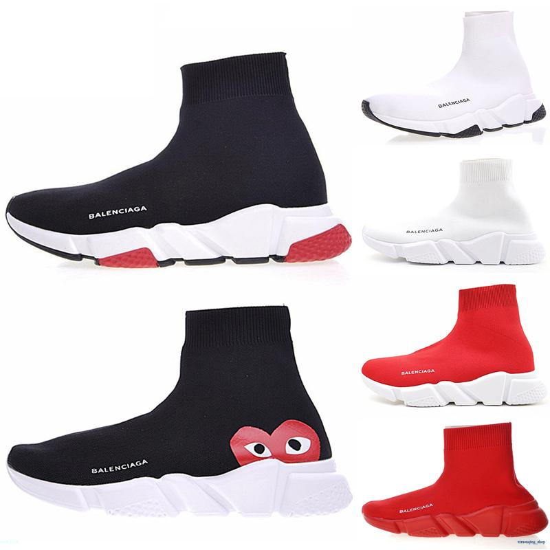 Balenciaga Triple-S Sneaker 2020 Socke Schuhe Mode triple schwarz weiß Graffiti Turnschuhe Männer Frauen beige Trainer gelb Geschwindigkeit Mens beiläufige Sportschuh