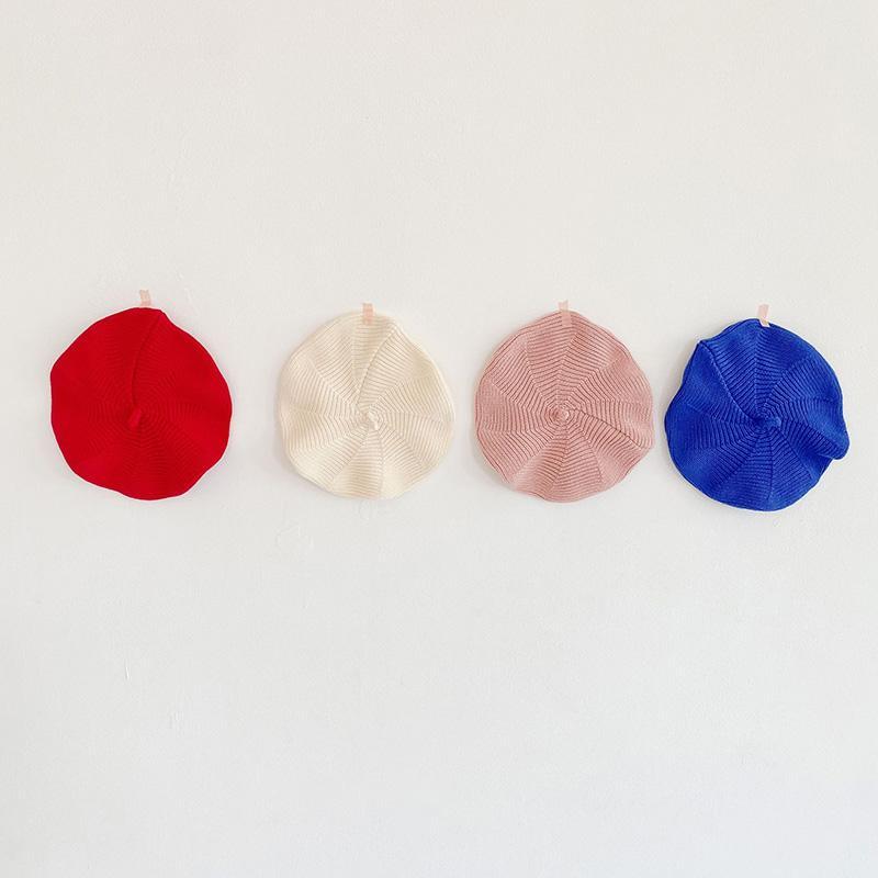 MILANCEL осенью новый шлет младенец вязать ребенок accerssories профи девочки беретов шляпы 4 цвета 3month в 3y капот
