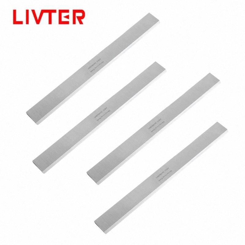 LIVTER 2pcs / 4pcs HSS Madera de cepillado de la madera de la hoja del cuchillo por un plano de 13 pulgadas portátil mecánico de grosor ajustable MI12 #