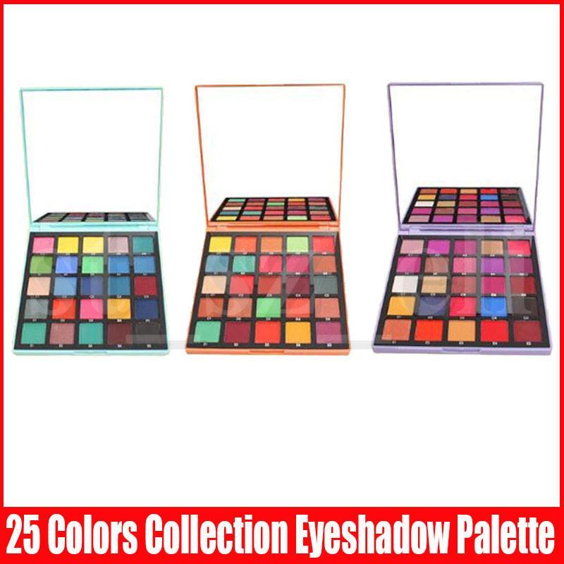 Göz Makyajı Noel Hediyesi Glitter Işıltılı Göz Farı 25 Renkli Mat Metalik Flaş Göz Farı Paleti Mor Turuncu Mavi 3 Stiller
