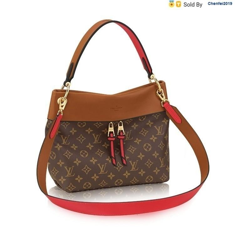 chenfei2019 QERI Tuileriesbesace, Three-color Old-fashioned Shoulder Portable, Shoulder, Crossbody, Canvas/with Leather M43157 Totes