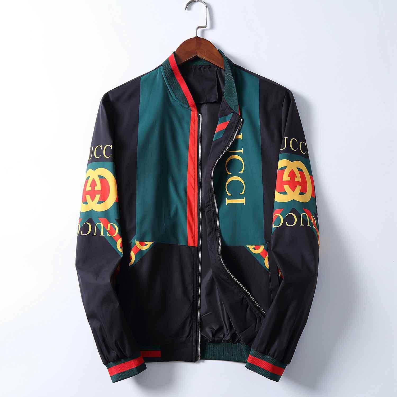2020 heißen Verkauf Herbst Trend Jacke Herren-Persönlichkeit gedruckte Stickerei Mantel Medusa Jacke lose Stehkragen Strickjacke Reißverschluss Männer Mantel