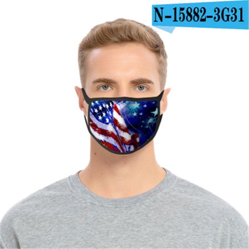 Máscaras de la manera 3D de diseño impreso Dibujos de algodón lavable boca Máscaras PM2,5 prueba de polvo y smong la mascarilla de la máscara de protección # AQ199 12