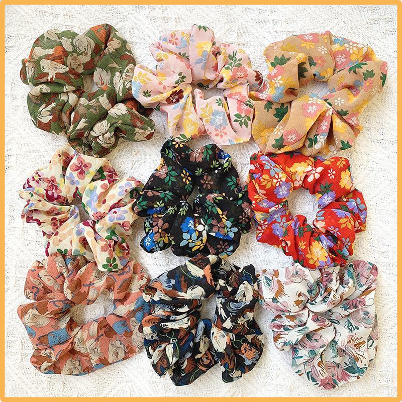 Afrodit Saç Kravatlar Scrunchie şifon Lastik Bantlar güzel Çiçek Elastik Saç Bantları Kadınlar Kızlar at kuyruğu Tutucu Aksesuarları