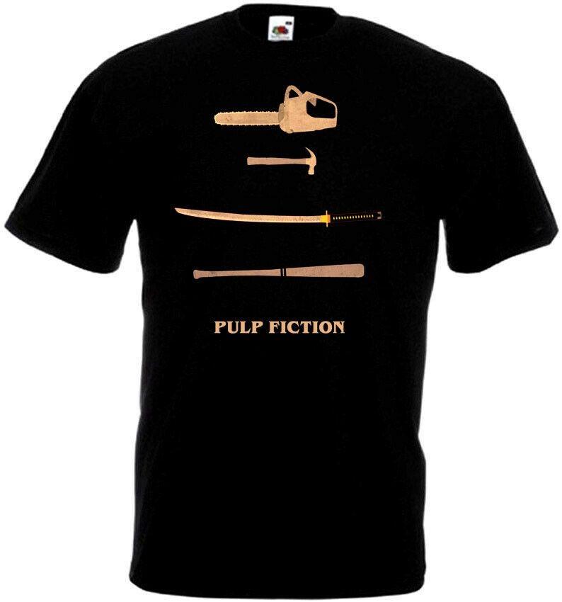 Pulp Fiction V19-T-Shirt Schwarz Quentin Tarantino Alle Größen S 5Xl