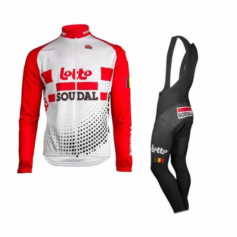 2020 2020 Pro Team Soudal Winter флис красный задействуя Джерси комплекты мужские грелки велосипеда Ткань MTB Ropa Ciclismo велосипедов Майо Gel Pad От 19QN #