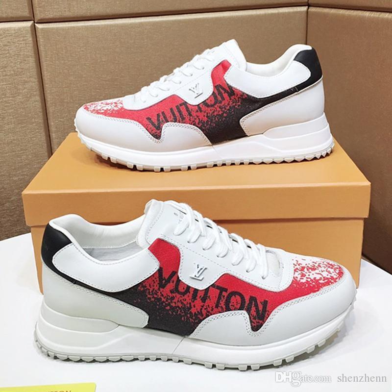 Новый люкс Мужская обувь Мода кроссовки с коробкой Zapatos De Hombre Идущие Тренеры Chaussures Pour Hommes Мужская обувь Повседневная Run Away тапки