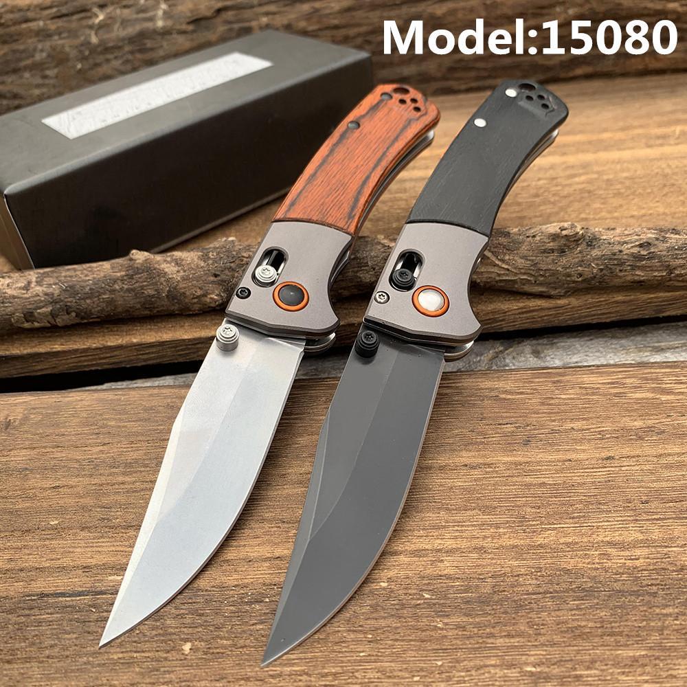 De haute qualité 15080-2 Crooked River pliant 9CR18MoV bois lame Poignées BM15080 Couteau tactique de chasse de combat