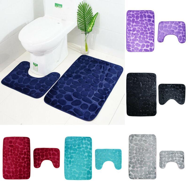 2pcs / set bagno privato servizi igienici non stuoia di slittamento Extra Grip Mat aspirazione Con Gomma Protezione