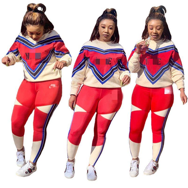 las mujeres chándal traje pantalón de manga larga trajes de dos piezas conjunto jersey + legging ropa de mujer sportsuit nueva venta caliente para mujer de la ropa klw4602