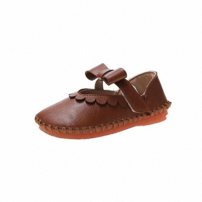 New Soft Retro inferior meninas sapatos de couro Princesa Crianças Flats Primavera / Sapatos Outono Mocassins crianças 018 TpDQ #