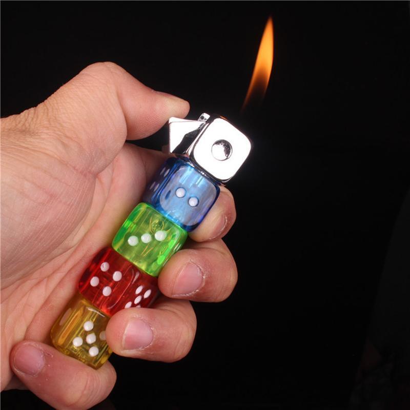 Nouvelle personnalité créative Coloré Coloré Dict Dict Bright Toy Funny Toy Butane rechargeable Gadgets portables pour hommes Abordable briquet