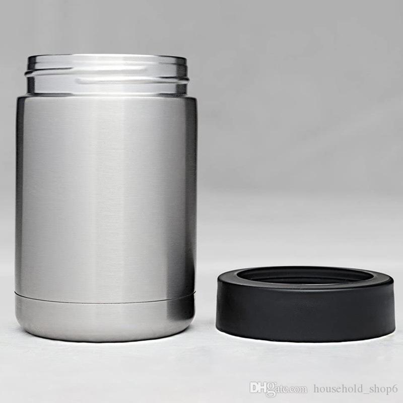 12oz İçecekler Can Cooler 16 Renkler Paslanmaz Çelik İçecekler Can Soğuk Kaleci Çift Duvar Ayı Soğuk Can A09 tutun