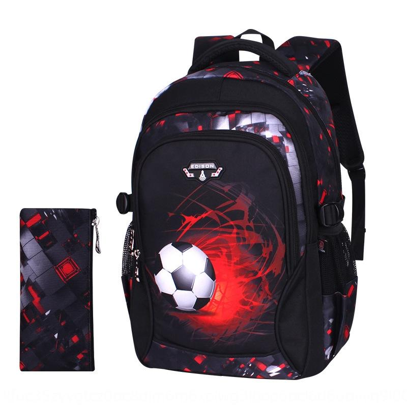 yrODt Edison schoolbag for primary school students Bag backpack boys' ultra light burden reduction fashionable football printing dirty backp
